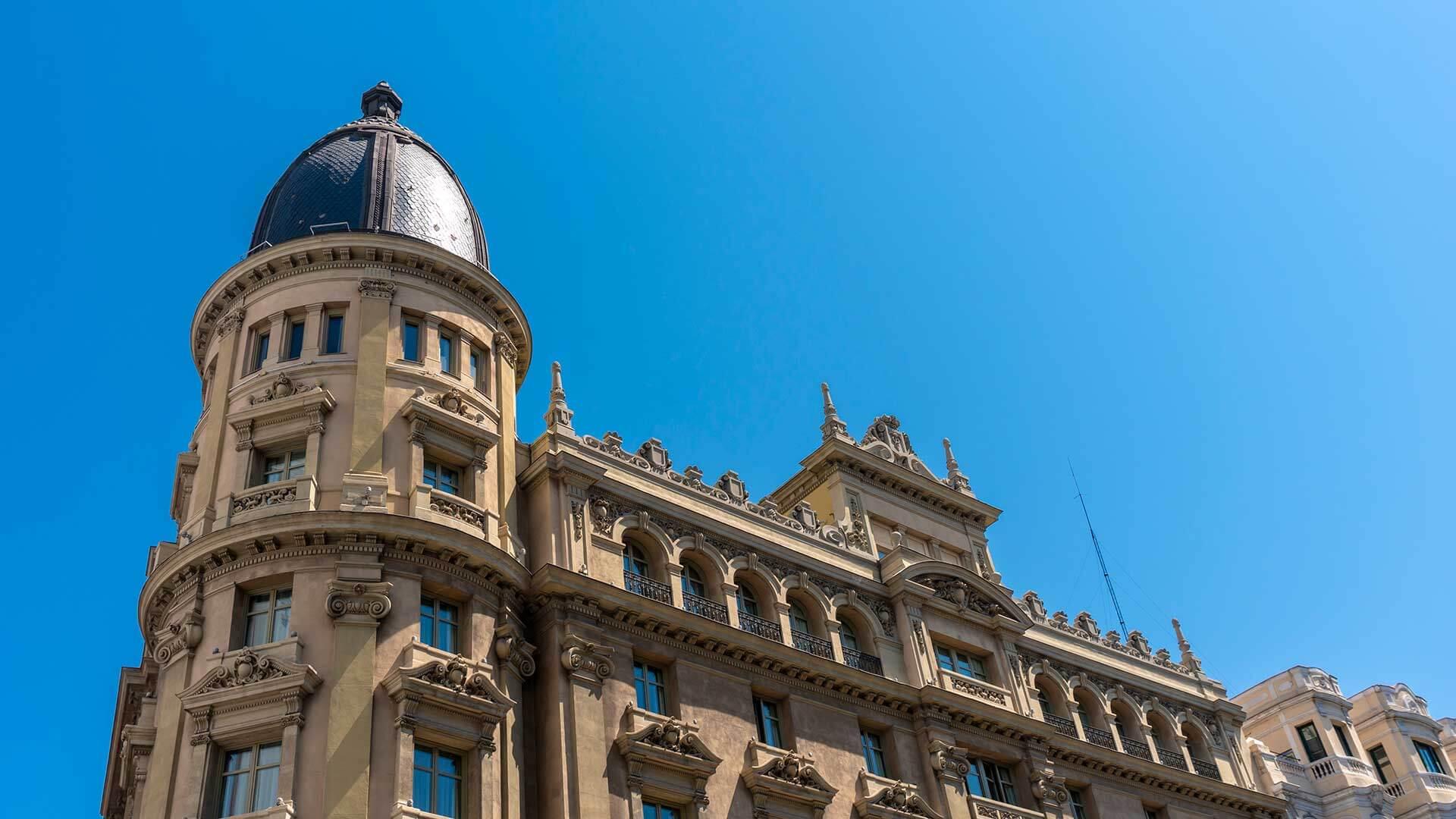 Fachada Casino Gran Vía Madrid